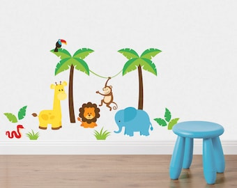 In the Jungle Fabric Wall Stickers/Wall Decals
