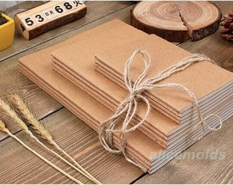 Set of 5pcs 32K Kraft notebooks 140x210mm--For Drawing, Sketching, Diary