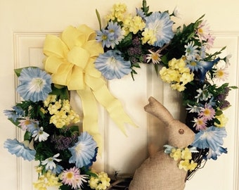 Easter Wreath. Holiday Wreath. Grapevine Wreath. 18 inches