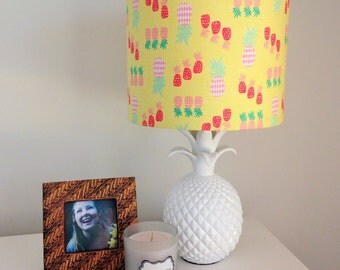Pineapple print lampshade (FREE SHIPPING)