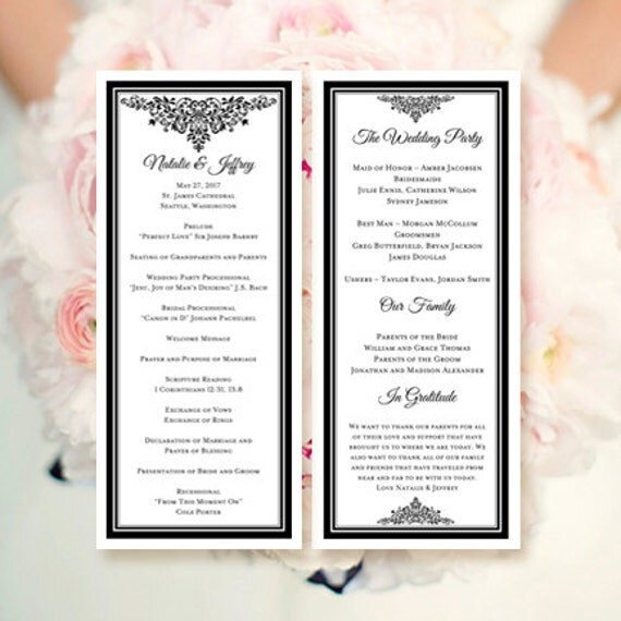 how to make a wedding program in word selo l ink co