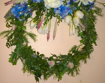 Hydraga Garden Wreath