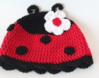 Ladybug Hat - Crochet Ladybug