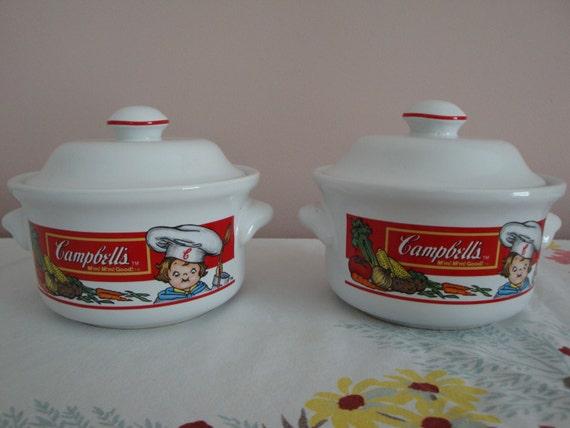 Set Of 2 Vintage Campbell S Kids Soup By Jinglebeanfarm On