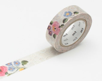 MT Washi Tape - 'lace/kalocsa' embroidery lace pattern washi tape by mt masking tape