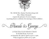 CUSTOM ORDER for PASCALE 140 letterpress wedding suite