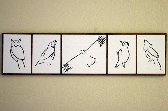 Art animalier minimaliste dessins originaux sur bois th me for Dessin minimaliste