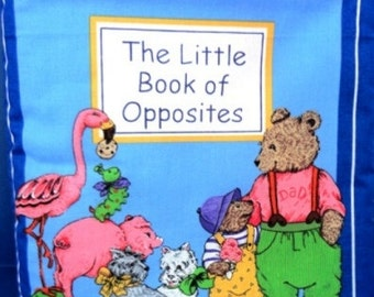 The Little Book of Opposites children's cloth book