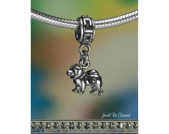 Tiny Chow Charm or European Style Charm Bracelet Sterling Silver .925