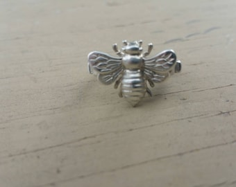 Native American Bee fetish ring in sterling silver ring