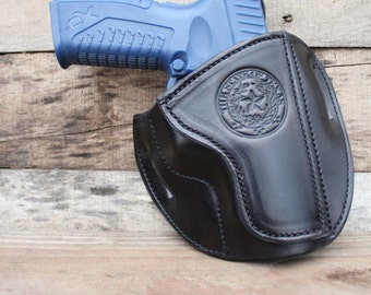 Handmade Springfield XD Holster with State of TEXAS Seal