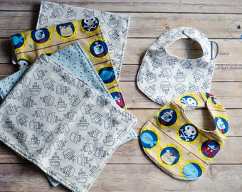 Burp Cloth & Bib Set