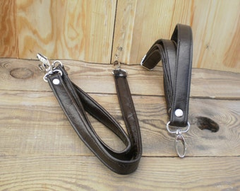 Leather handles bag straps pair leather straps craft by for Handles for bags craft