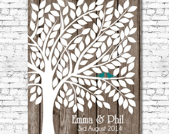 Printable - Wedding Guest Book Tree Alternative - Up to 150 signatures - Customise all Colours & Fonts - Any Size - Wedding Guestbook Tr