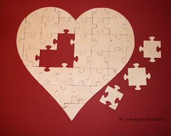 Puzzle heart 37 pieces