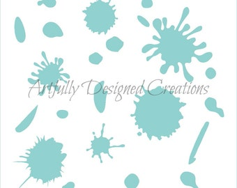Paint Splatters Background Stencil