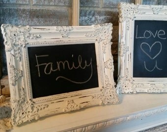 Shabby chic chalkboard frame, wedding decor, nursery , home decor, 5x7 frame