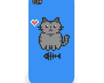 Pixel Puss Art Print iPhone 5C Case Cute Retro 8-Bit Gamer