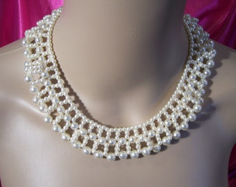 Vintage Pearl Bridal Necklace Choker