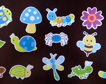 Busy Little Bug Magnets - Preschool Learning - Set of 16