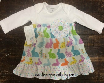 Infant Girls Easter Dress, Bodysuit Dress, Easter Dress, Special Occasion Dress, Infant Toddler Dress, Newborn to 24 months