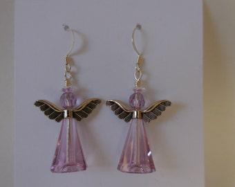 Lavender Angel Earrings