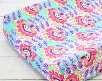 15% OFF SALE- Avery's Aztec Changing Pad Cover