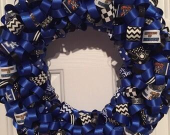 Handmade University of Kentucky Ribbon Wreath