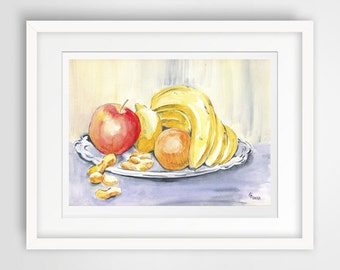 kitchen poster, kitchen watercolor, kitchen painting, kitchen print art, art for kitchen, kitchen wall decor, kitchen wall art