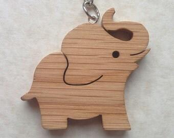 Oak Elephant Key Chain