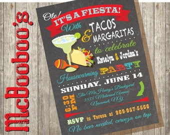 Mexican Fiesta House Warming Party Invitations