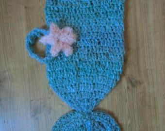 Baby Mermaid crochet cacoon
