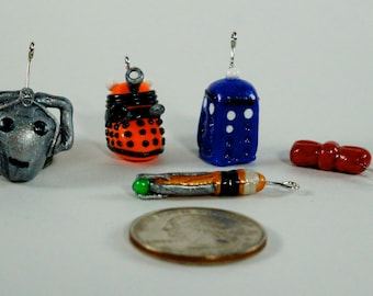 Doctor Who stitch markers for knitting or crochet