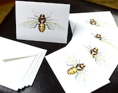 Honey Bee Robotic Insect Blank Card