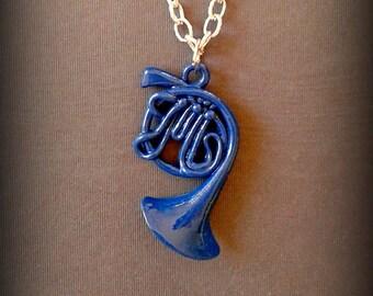How I Met Your Mother FAN ART - E alla fine arriva mamma - Collana e orecchini corno blu francese Regalo simbolico