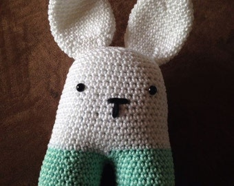 Crochet rattle rabbit