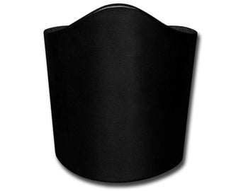 Lace-up Plain Thick Leather Bracelet Wristband Cuff 90mm Black