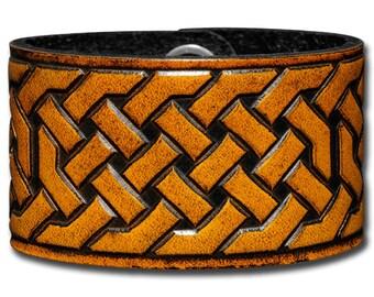 Leather Bracelet 40mm Celtic Knotwork (2)