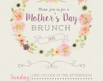 Floral Mother's Day 5x7 Invitation