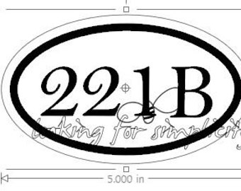 Euro 221B Decal (for Sherlock Holmes Fans)