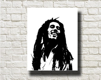 Bob Marley Silhouettes Printable Instant Download Home Decor Wall Hanging DNGFM103