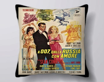 007 James Bond - Cushion Fabric Panel Or Case or with Filling