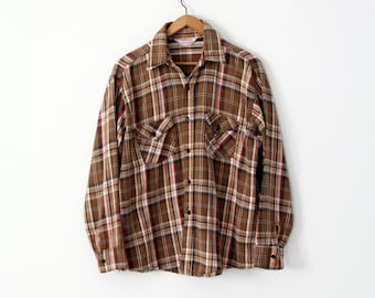 1970s Frostproof plaid shirt,  men's flannel work shirt