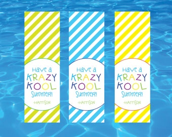 Have a Krazy Kool Summer Tags- End of School Year Tags-End of School Favor Tags- End of School Gift Tags- Krazy Kool Tags