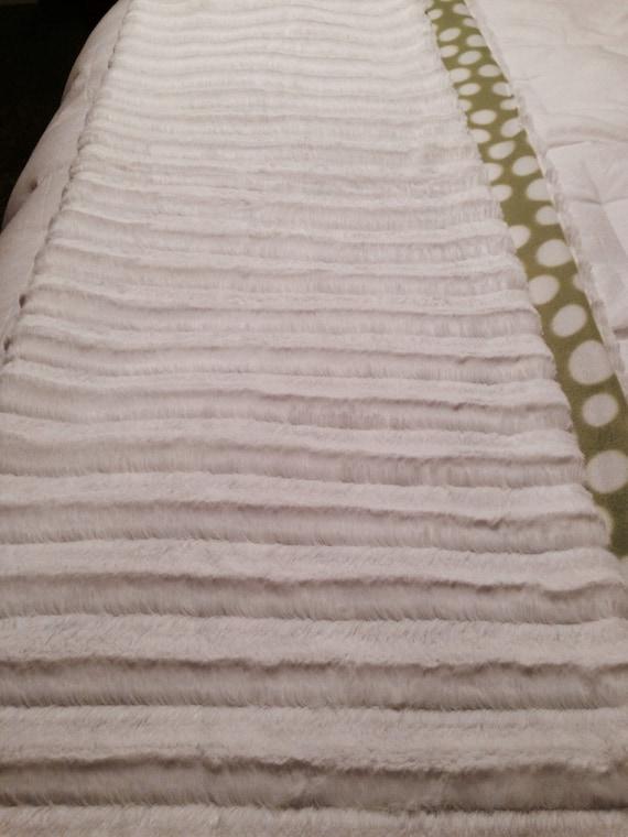 blanket light lime green polka dots on soft fleece fabric. Black Bedroom Furniture Sets. Home Design Ideas