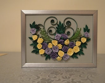 Quilling Hand Made Picture Framed