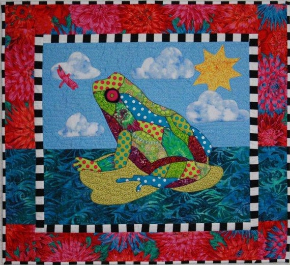Frog Quilt: BJ Designs & Patterns Freddie Frog Applique By