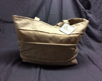 Handcrafted bag made in Italy from cotton  and eco suede