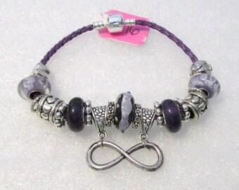 916 - Purple Infinity Bracelet