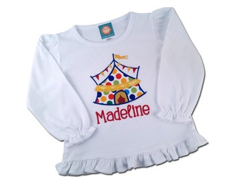 Girl's Circus Shirt with Embroidered Name -  F22